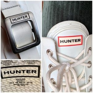 Hunter Shoes - HUNTER Tall Lace Up Ivory Rubber Rain Boots